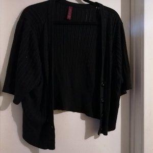 Black overlay Cardigan